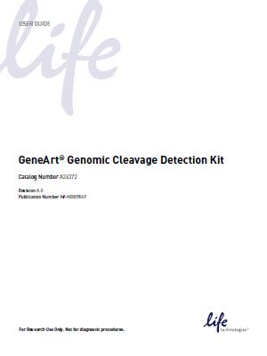 Invitrogen_GeneArt® Genomic Cleavage Detection Kit(USER GUIDE)