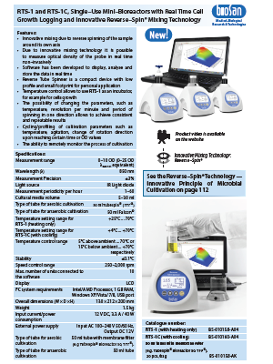Biosan_RTS-1&1C_Single–Use Mini–Bioreactors