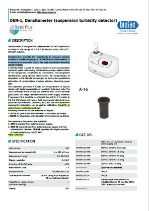 Biosan_DEN-1, Densitometer (suspension turbidity detector)