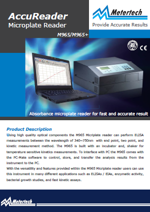 Metertech_AccuReader Microplate Reader_M965