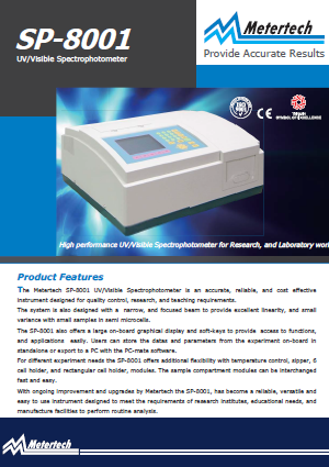 Metertech_SP-8001 UVVisible Spectrophotometer