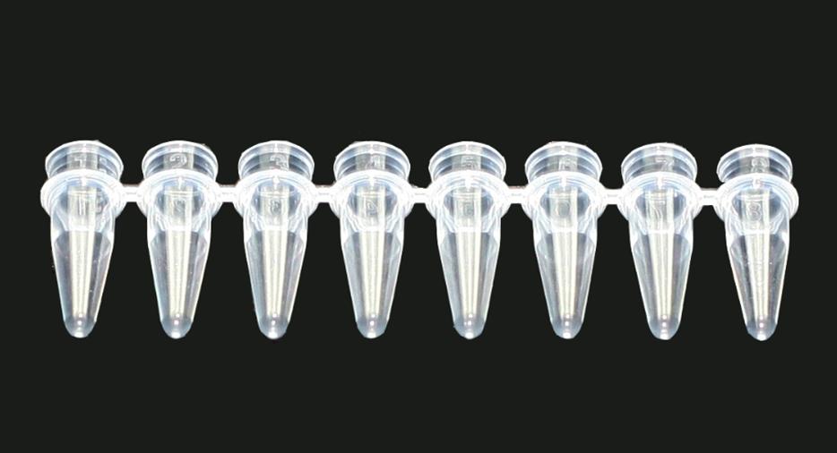 0.2 ML., 8-STRIP TUBES, WITH BUBBLE CAP, 125/PKG