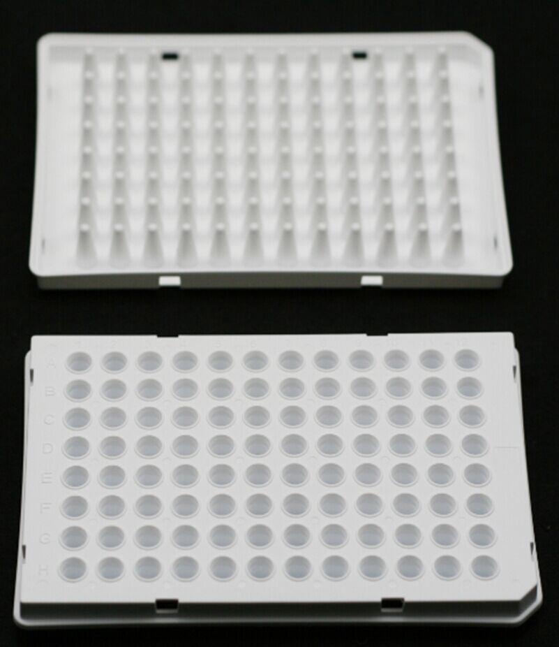 0.1 ML., 96-WELL qPCR PLATES, SEMI-SKIRTED, WHITE, 15 PCS/BOX