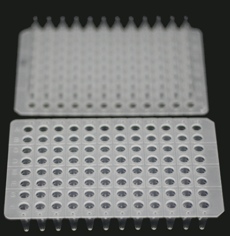0.2 ML., 96-WELL qPCR PLATES, UNSKIRTED, CLEAR, 15 PCS/BOX