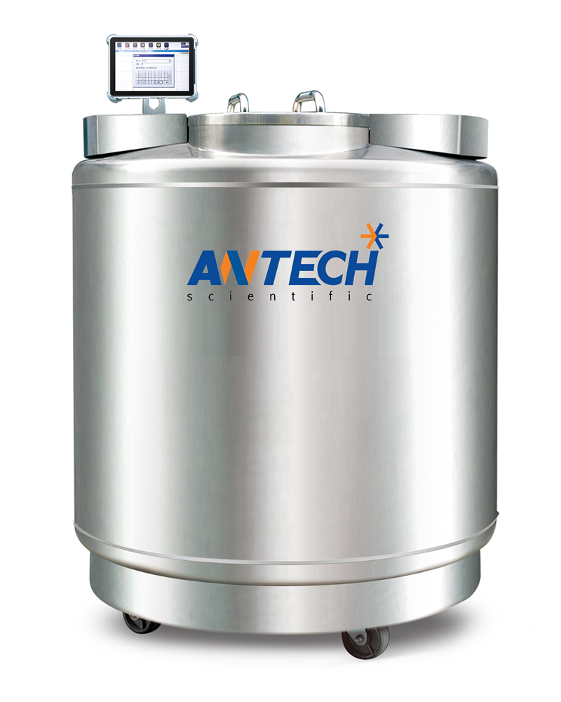 LN2 CAPACITY 390 L. FOR LIQUID PHASE, 50 L. FOR VAPORPHASE