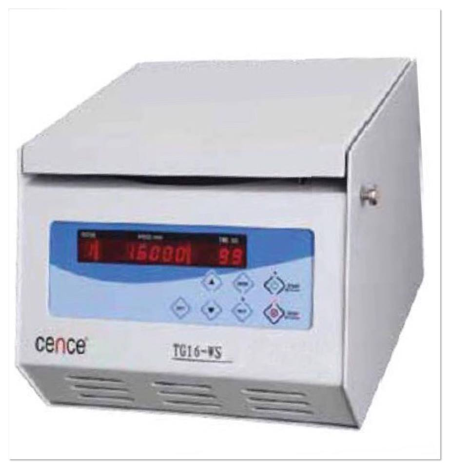 TG16-WS TABLETOP HIGH SPEED CENTRIFUGE