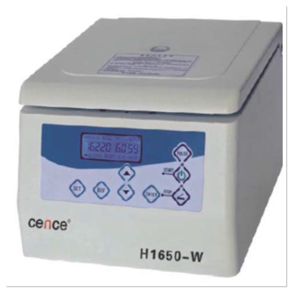 H1650-W TABLE TOP HIGH SPEED MICROCENTRIFUGE