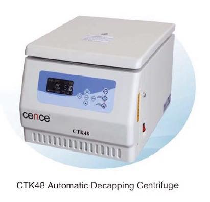 CTK48 AUTOMATIC DECAPPING CENTRIFUGE WITH YOKE, BUCKET, 75, 100MM. DECAPPING ADAPTOR